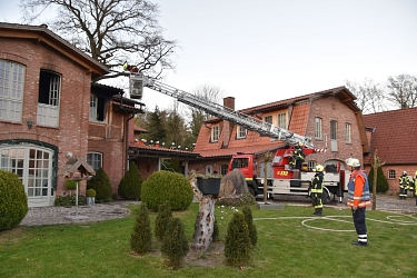 Feuer in Lübberstedt © Mathias Wille, GPW Salzhausen