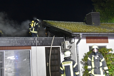 Dachstuhlbrand in Salzhausen © Mathias Wille, GPW Salzhausen